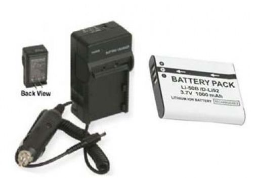 Primary image for Battery + Charger for Olympus SZ-14 SZ-31 Stylus Tough 6000 8000