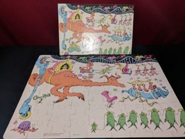 """Dr Seuss Vintage 60pc Puzzle Going Away For Weekend 16 x 11"""" USA 1975 Co... - $19.99"""