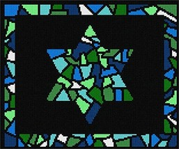 pepita Tallit Stained Glass Greens Needlepoint Kit - $122.00