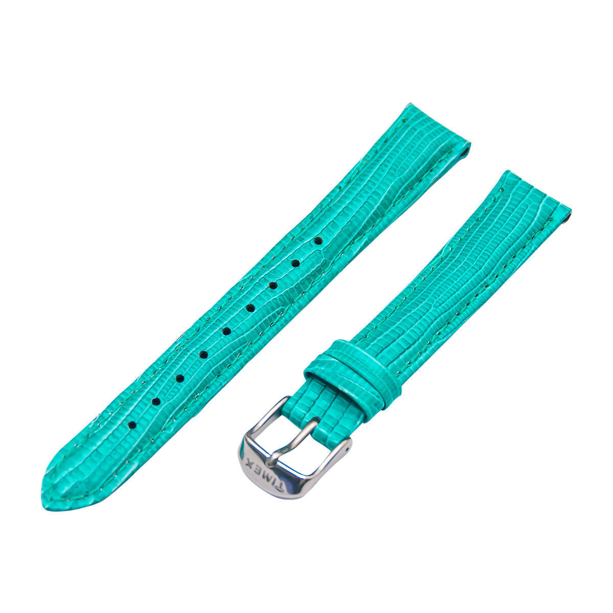 dfc4ab5887b4 Timex Mujer T7B949 16mm Turquesa Piel Lagarto Cuero Repuesto Correa de Reloj