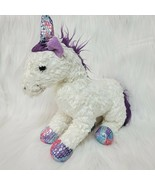 "10"" Princess Soft Toys Unicorn White Purple Plush Beanbag Melissa  Doug ... - $14.99"