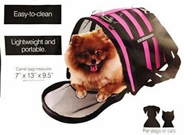 Kole Imports Vented Pet Carrier Bag with Reflective Stripes - £10.61 GBP