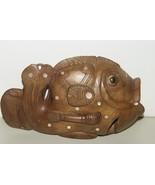 Melanesia Massim Oceanic Primitive Art Trobriand Carving Fish Mother pea... - $284.99