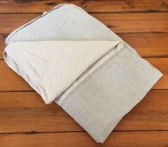 Vtg IKEA Neutral Khaki Gray Reversible 100% Cotton King Size Bed Duvet C... - $39.99