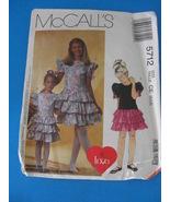 McCALLS Girls Dress Focus On Love Collection 5712 PATTERN - $4.95