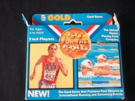 Vintage Go For The Gold Card Game Running Swimming United States Playing... - $39.55