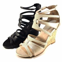 Aerosoles Capital Black Closed Back Strappy Wedge Sandals Size 10 - $41.30