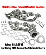 Stainless Headers For Chevy GMC Avalanche Silverado Sierra Tahoe 4.8L 5.... - $999.00
