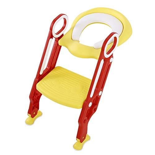 AYNEFY Potty Chair, Potty Training Seat Soft Toilet Chair Ladder Adjustable Safe