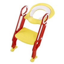 AYNEFY Potty Chair, Potty Training Seat Soft Toilet Chair Ladder Adjustable Safe image 1
