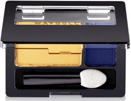Maybelline Eye Shadow Duo Golden Star Expert Wear, yellow blue full size... - $8.49