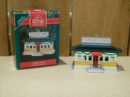 Vintage Hallmark Christmas Ornament Donder's Diner 1990 Keepsake Ornaments - $10.00