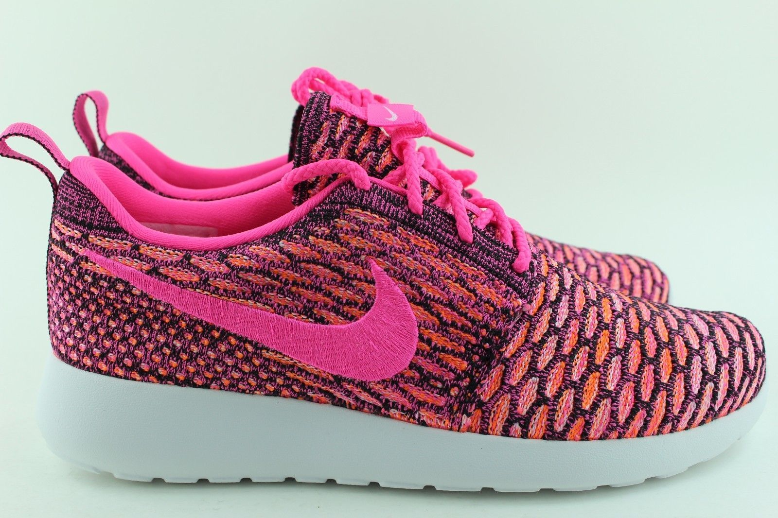 NIKE ROSHERUN FLYKNIT WOMAN SIZE 6.0 PINK POW NEW RARE AUTHENTIC