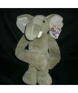 VINTAGE 1998 GRAY ELEPHANT K & M INTERNATIONAL STUFFED ANIMAL PLUSH TOY ... - $23.38