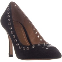 Coach Varick Pointed Toe Pumps, Black Suede - $91.99