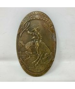 VTG Tiffany Champion Bronco Buster Brass Belt Buckle Indian Tera Rodeo P... - $98.99