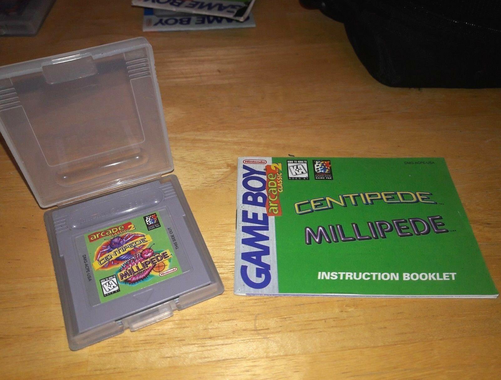 Centipede / Millipede Arcade Classic 2 Nintendo Game Boy Instruction Book Tested