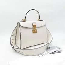 100% Authentic Christian Dior Addict Tote White Calfskin Bag GHW RARE image 2