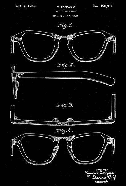 Primary image for 1948 - Eyeglasses - Spectacle Frame - V. Tanasso - Patent Art Poster