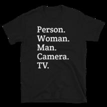 person woman man camera tv / person woman man camera tv T-Shirt image 1