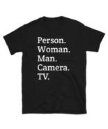 person woman man camera tv / person woman man camera tv T-Shirt - $21.00+