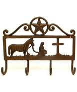Inspirational Cast Iron Cowboy Coat Hook with Star - $18.99