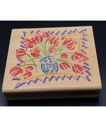 Stampede Bloomin Bouquet Wood Mounted Rubber Stamp Vase Flowers NEW NOS ... - $8.88