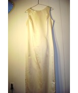 """""""Jessica McClintock"""" bridal..Size 8..Pale Yellow Gown - $19.99"""