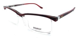 Starck Eyes Mikli Rx Eyeglasses Frames SH3037 0003 56x16 Striped Red / Crystal - $117.60