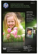 """hp everyday photo paper Glossy for inkjet 100 sheet 4""""x6"""" - $9.99"""