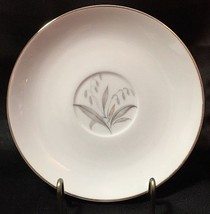 Kaysons Golden Rhapsody Saucer Gray Gold Leaves Gold Trim - $4.99