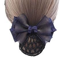 Elegant Fashion Hair Net Bowknot Hair Clips Spring Clip 2 pieces, BLUE - $329,33 MXN