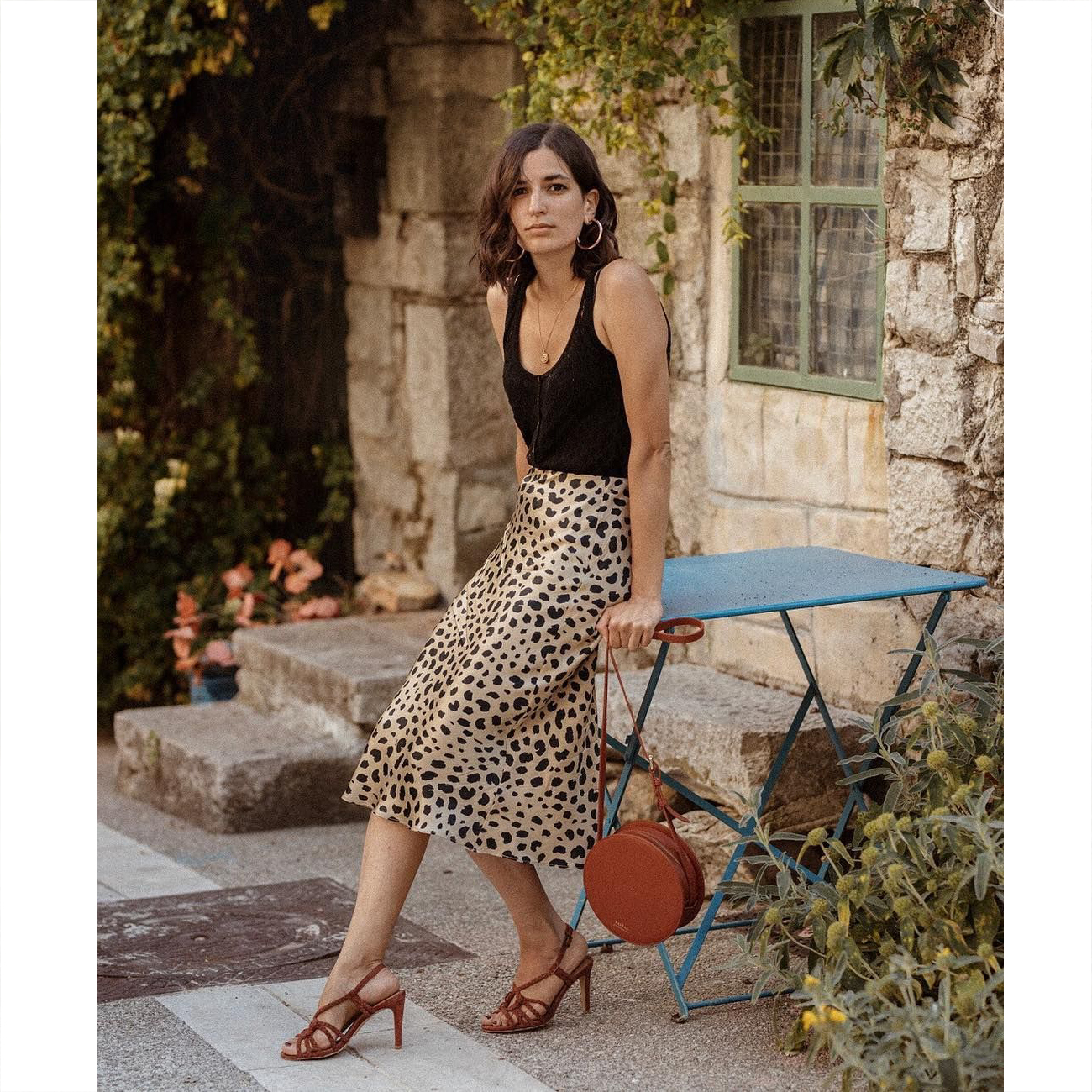Women Realisation Par The Naomi Wild Things Leopard Silk Midi Skirt
