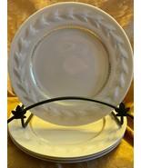 Lenox Carlyle P308 Dinner Plates - Embossed Laurel - Gold Greek Key - Lo... - $1,128.00