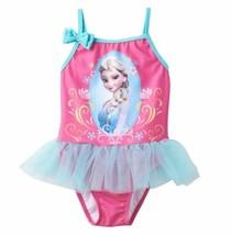 Toddler Girl 2T-3T Disney Frozen Elsa Pink Blue Tutu Swimsuit Swim Swimming - $17.99