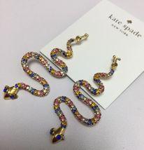 KATE-SPADE-12K-Gold-Plated-Spice-Things-Up-Snake-Drop-Earrings-w-KS-Dus... - $36.99