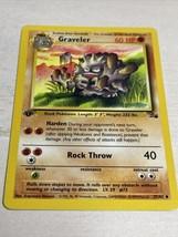 Graveler 1st First Edition Pokemon Card 37/62 Fossil Uncommon English Near Mint - $14.85