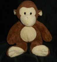 "14 "" Groß Ty Pluffies 2004 Dangles Baby Braun Creme Affe Plüschtier - $37.05"
