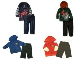 Infant Boy's Hoodie Set with Pants Kids Headquarters Baby Sweatshirt Pant Outfit