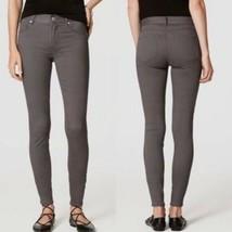 Ann Taylor LOFT Sateen Five Pocket Leggings Pants in Marisa Fit Gray Size 0 - $18.69