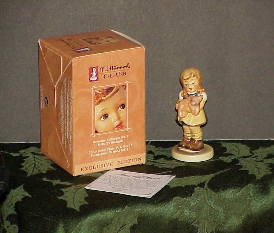 "Hummel Figurine 2052 Pigtails 3.3/8"" H  Mint in BOX Trade mark 8"