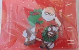 "Avon Gift Collection Santa Coast to Coast ""Country Cowboy"" Wood Ornament - $3.00"