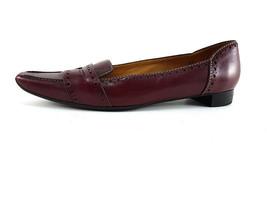 TOD's Burgundy Leather Slip On Pumps, med heels, Women's Shoes Size US 7 - $126.00