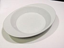 Dansk White BISSERUP Ribbed Casserole Bowl MCM Baker Pie Plate Au Gratin  - $23.76