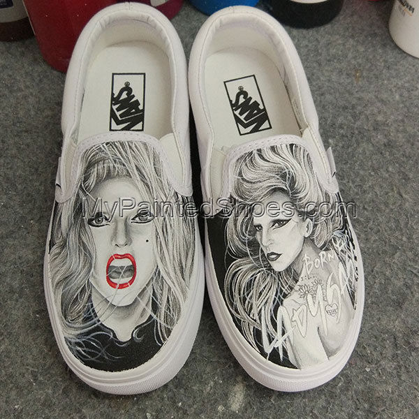 c27bacbc7d3b Custom Vans Shoes Lady Gaga Vans Hand and 50 similar items