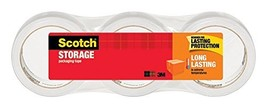 Scotch 3650-3 Long Lasting Storage Packaging Tape, 1.88 Inches X 54.6 Ya... - $12.53
