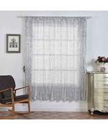 Sequin Room Darkening Window Treatment Panel Drape with Rod Pockets Silv... - $132.48