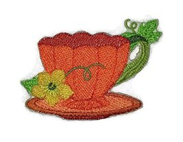 Custom And Unique Autumn Elegance Teacup Embroidered Iron on/Sew patch [... - €6,81 EUR