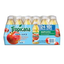 Tropicana 100% Bottled Apple Juice - 24 ct Case 10 oz Bottles from Conce... - $23.74