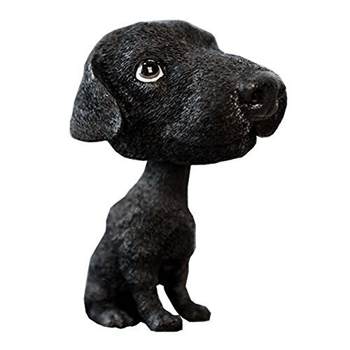 [Black Labrador] Bobbleheads Car Ornaments Resin Car Decoration,4.7x2.3''